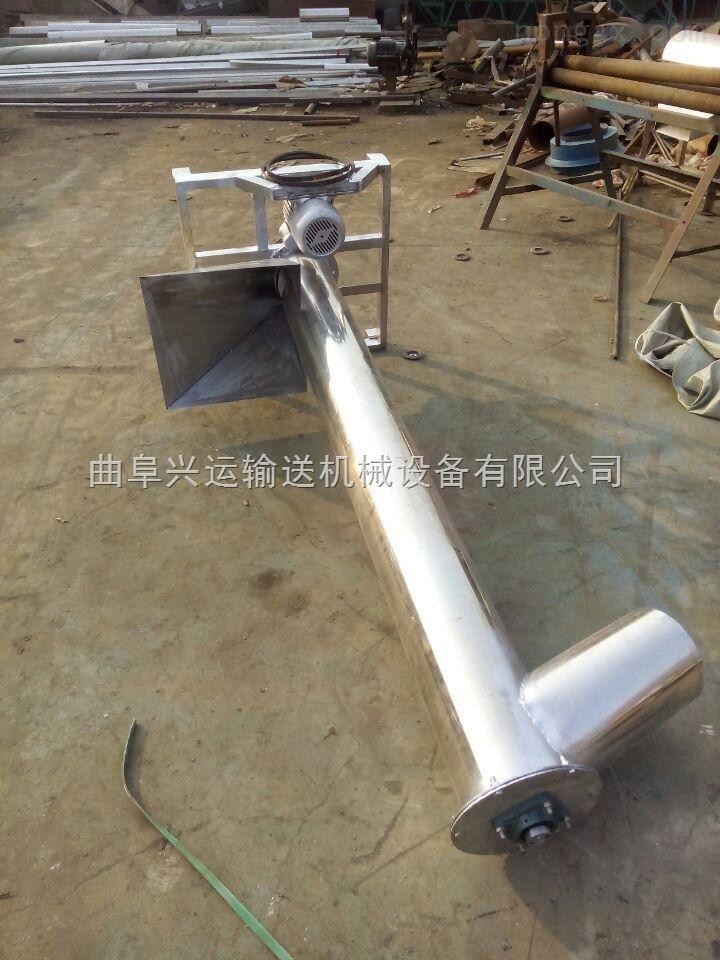 抽粮抽水用不锈钢提升机,大管径耐腐螺旋给料机