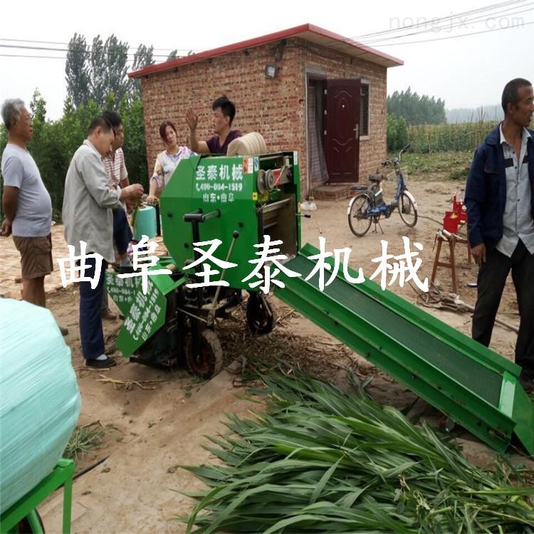全自动青储饲料打包机 玉米秸秆青贮打捆机