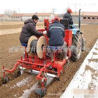 28-40马力带单垄双行土豆播种机施肥起垄播种打药铺设滴管带实现土豆播种自动化