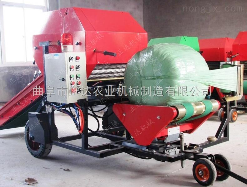 半自动包膜机 天津牧草打捆包膜机
