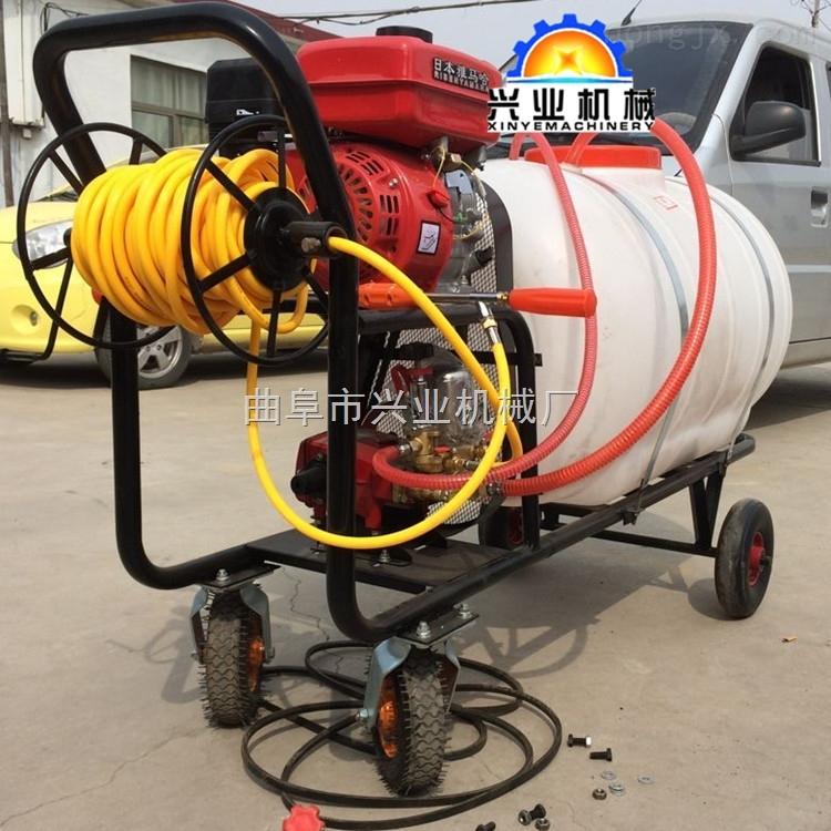 手推式高压汽油喷药机质量保证 自走式三轮车打药机 消毒打药机