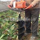 拖拉机挖坑机 大马力四冲程汽油挖坑机