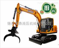 履带式90挖掘机抓木机多少钱一台