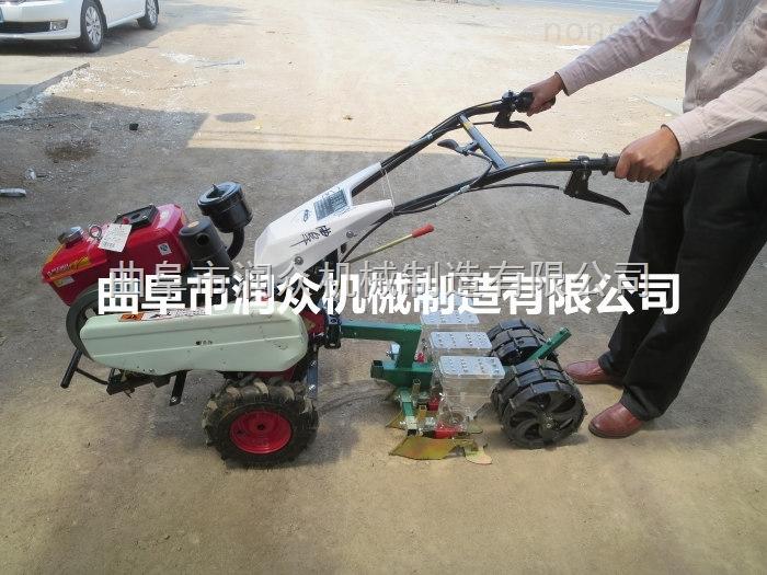 全优播种机 小型手推玉米播种机 开沟施肥播种机