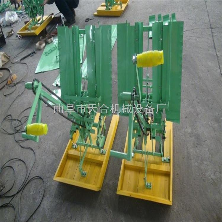 单人操作小型水稻插秧机 小型插秧机 人工育秧手摇两行插秧机