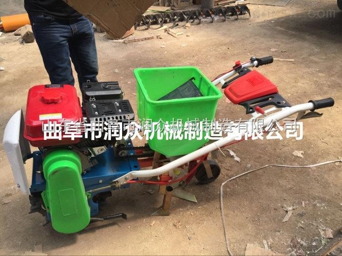微耕机带动播种机 人力手推精播机 手推玉米播种机