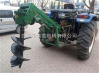 拖拉机带挖坑机价格 手推汽油钻眼机 轻便打洞机