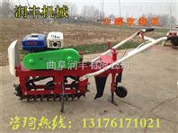 拖拉机牵引花生收获机 汽油大蒜收获机 地瓜收获机