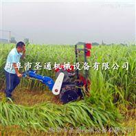 小型玉米高粱收割机,手推式秸秆作物收割侧放机