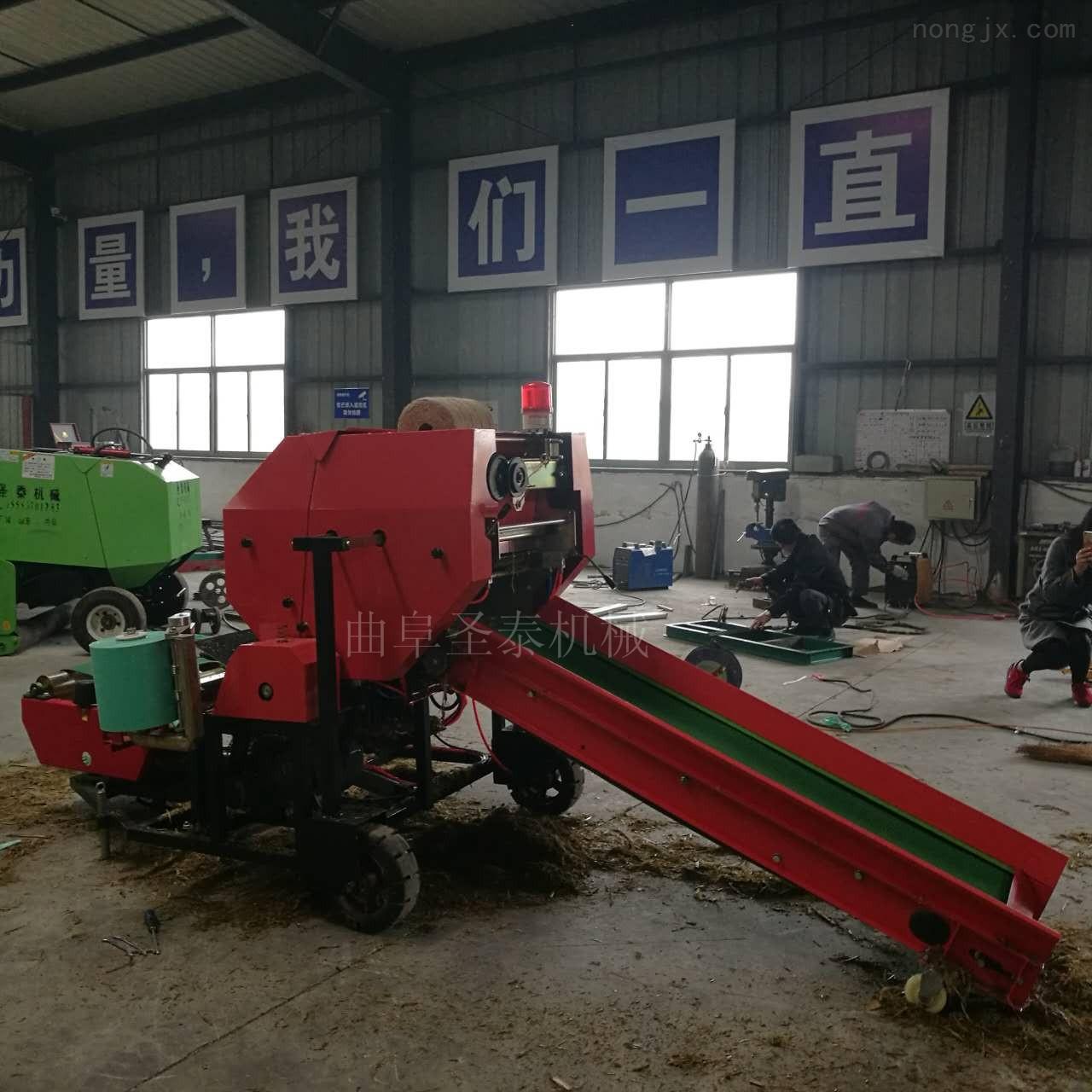 新疆饲草打捆包膜机青贮打包机厂家