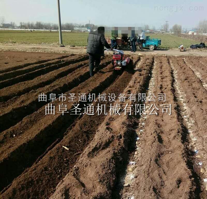唐山紅薯開溝培土機 小型汽油10馬力開溝機