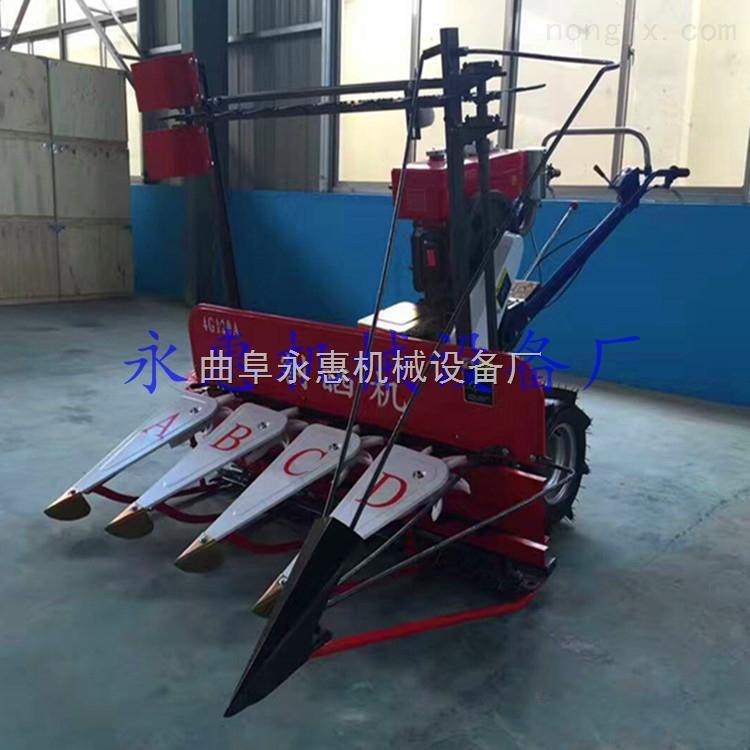 四轮前置式高杆作物收割机 谷子高粱收割机厂家