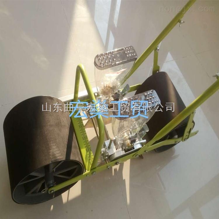 HS-青草种植播种机 人力2行蔬菜播种机