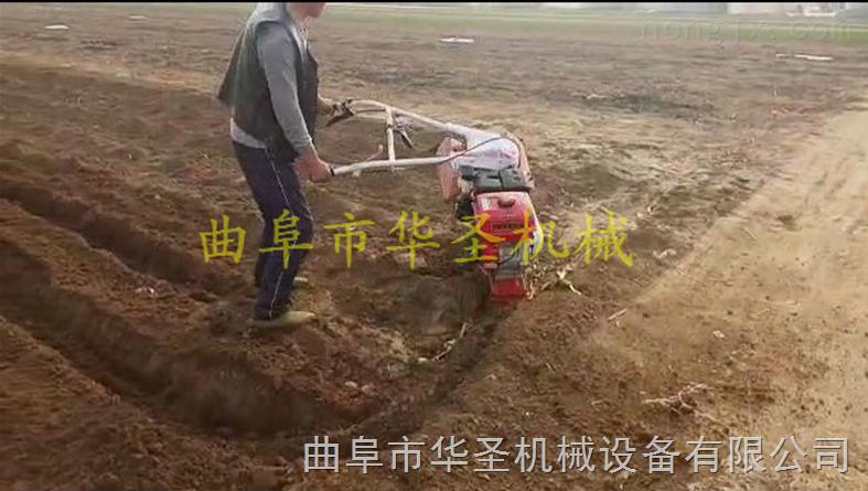 果园轮式开沟机 手扶大葱培土机