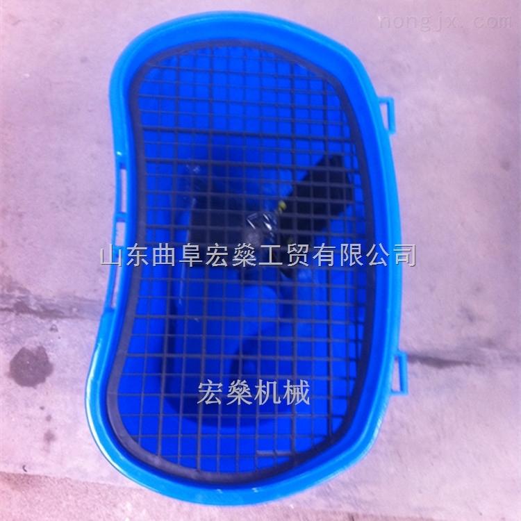 HS-金乡县农田电动施肥机 麦田人力撒肥播一体式