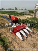 新式玉米收割机 高架手扶放片割晒机